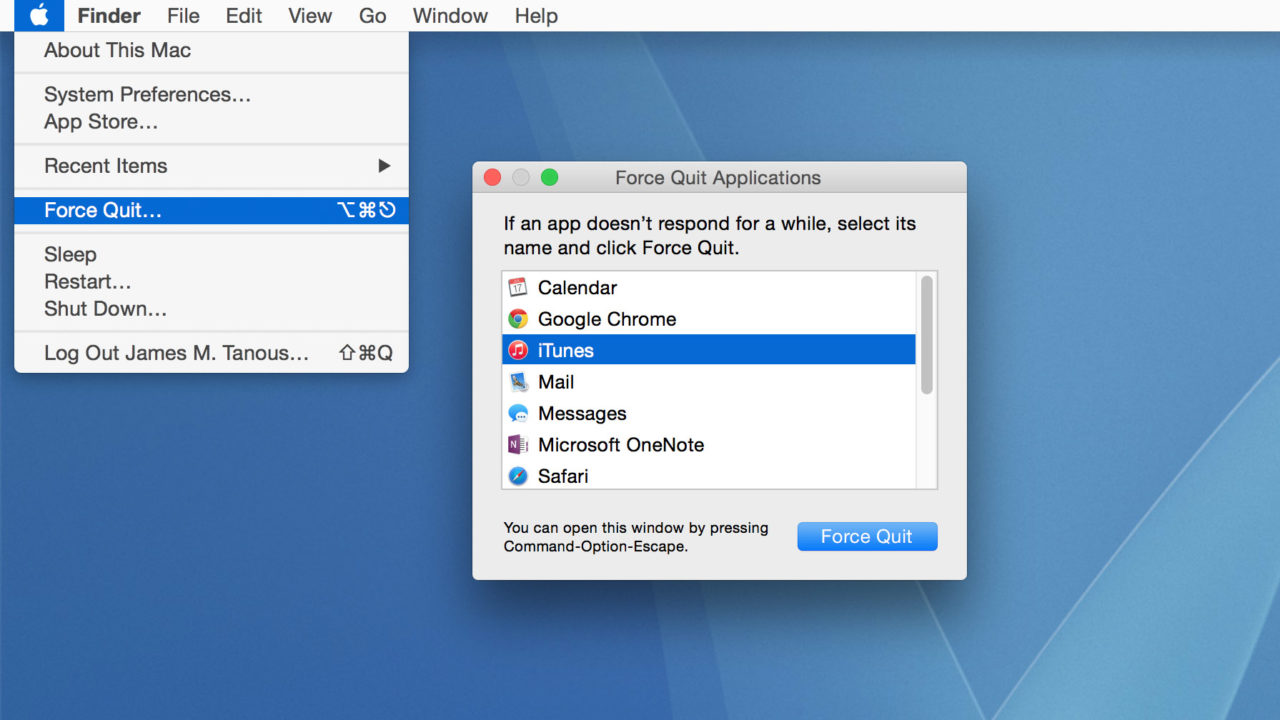how to force quit on macbook air