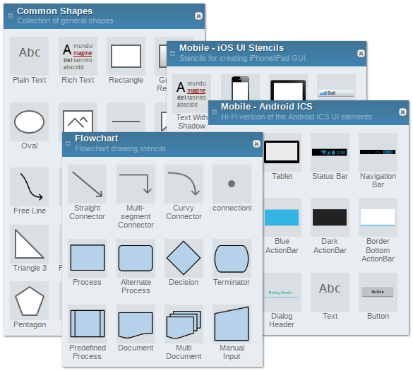 The 10 best free alternatives to microsoft visio but thats not all pencil project also helps you map out the user interface for your products and applications complete with a full library of ios and ccuart Choice Image