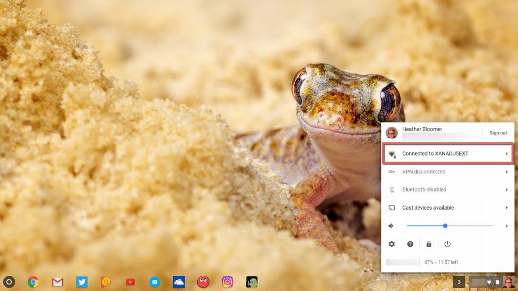 Internet Connection Chromebook