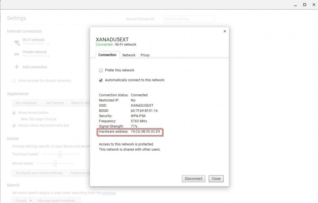 Mac Address Chromebook