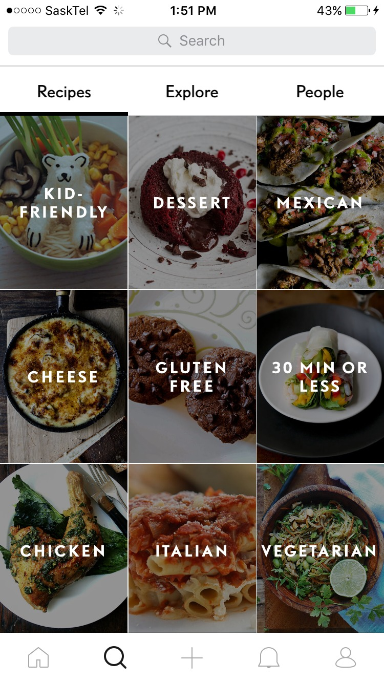 The best recipe apps for the iphone april 2017 another great feature is the home page of the app the home page of sidechef changes every single day and features different recipes and food options forumfinder Images