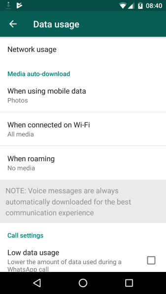 How to stop media auto download in whatsapp on samsung