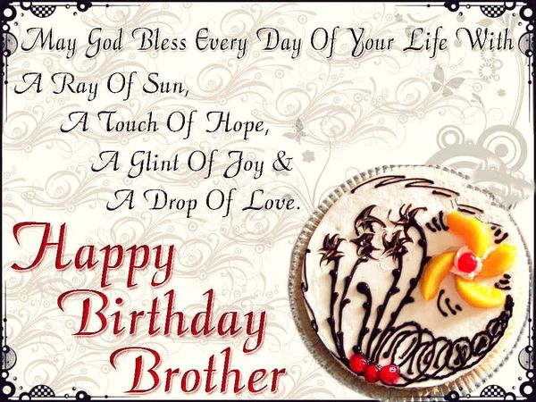 Brilliant Happy Birthday Quotes And Wishes For Brother With Images Personalised Birthday Cards Bromeletsinfo