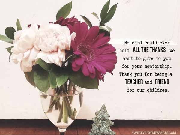 Thank You Note To Teacher From Grateful Parent