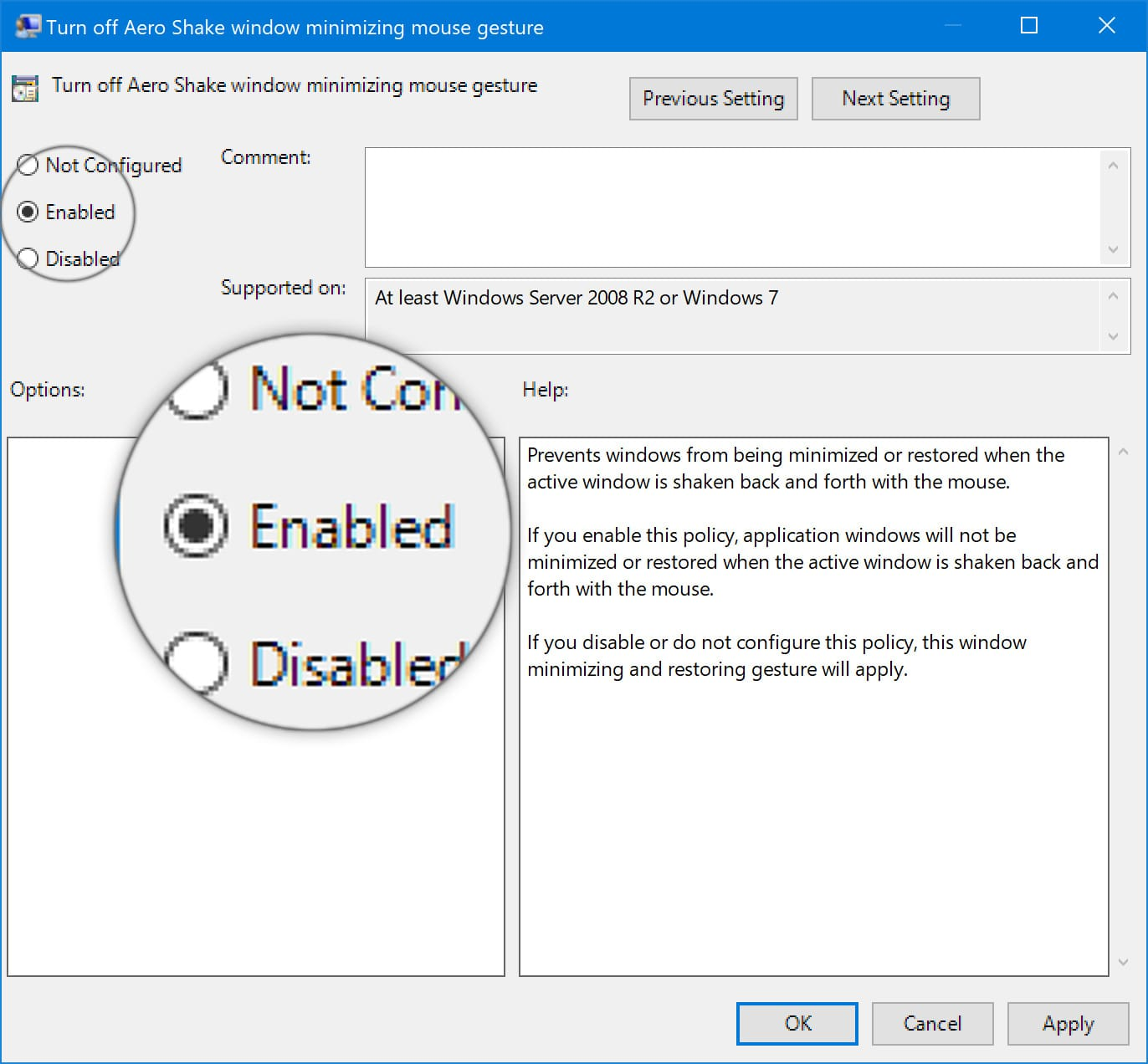 Disable Aero Shake to Stop Your Windows From Automatically