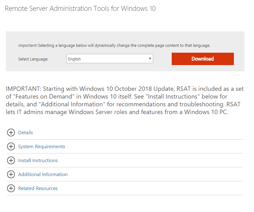 How to Install Remote Server Administration Tools (RSAT) on
