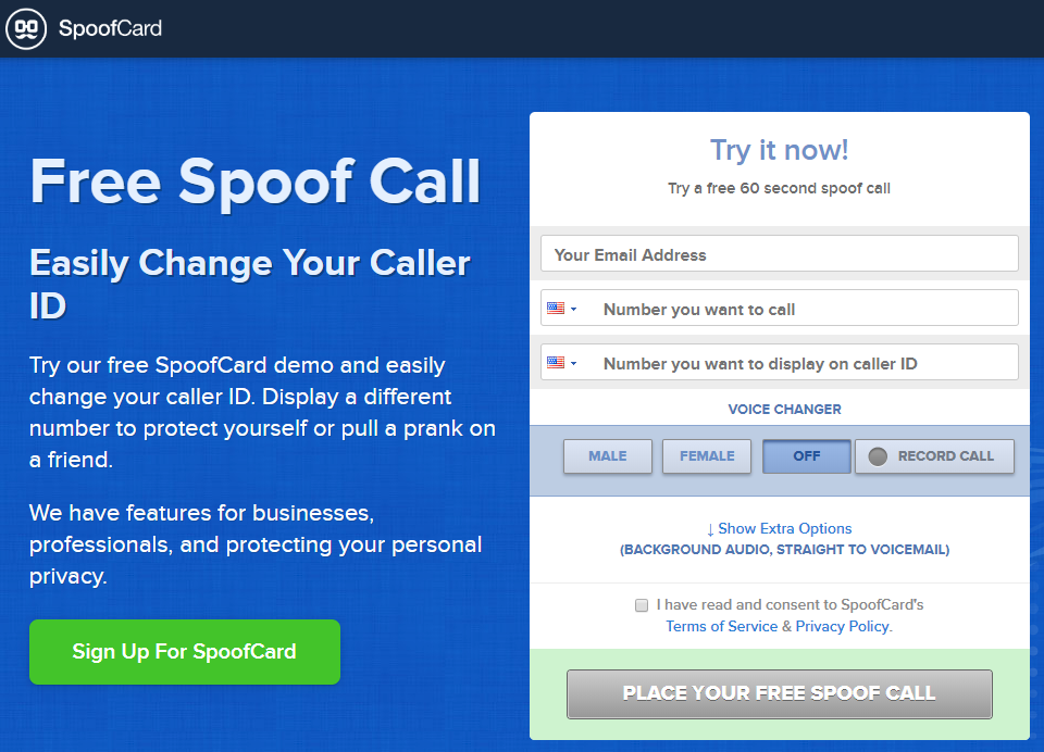 free spoof caller id for iphone