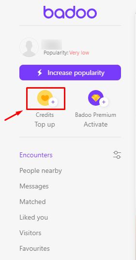 Badoo free credits no survey
