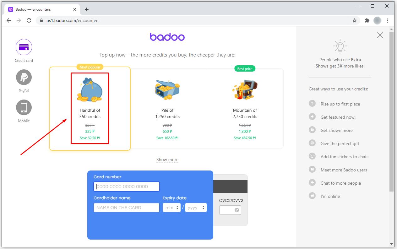Free credits survey badoo no imvu credits